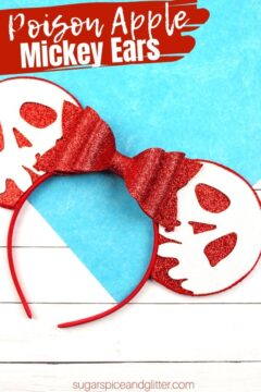 Snow White Headband with Printable Poison Apple Template