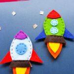 Felt Rocket Sewing Craft for Kids