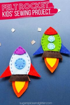 Felt Rocket Sewing Craft for Kids