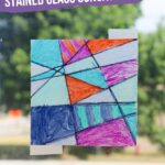 "Wax Paper ""Stained Glass"" Suncatcher"