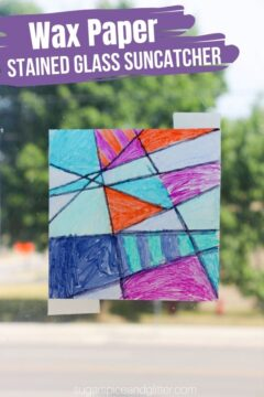 """Wax Paper """"Stained Glass"""" Suncatcher"""