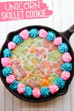 Unicorn Skillet Sugar Cookie (with Video)