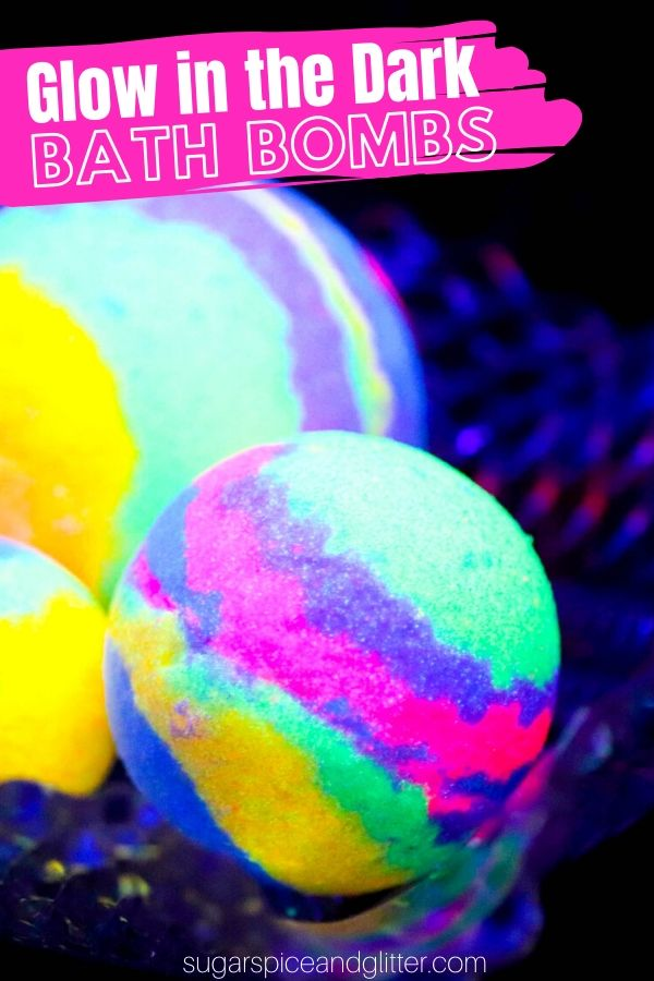 How to make glow in the dark bath bombs - a wonderful homemade gift idea or just a fun way to treat yourself at the end of the day. Turn your bath tub into Fern Gully!