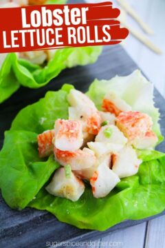 Lobster Roll Lettuce Wraps