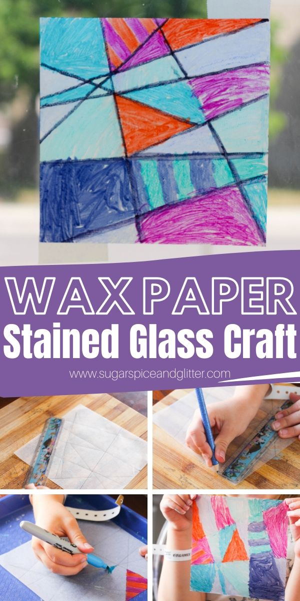 A super simple craft for kids with very little prep and no clean up! These pretty Wax Paper Suncatchers are made with materials you probably already have in the house!