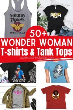 50+ Wonder Woman T-Shirts and Tank Tops