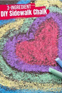 DIY Sidewalk Chalk Sticks (with Video)