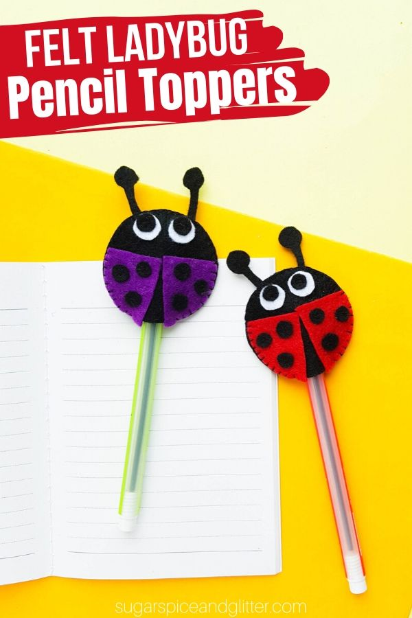 How to make the cutest felt pencil toppers! This DIY School Supply craft is an easy and inexpensive way to personalize your school supplies or add some whimsy to your desk