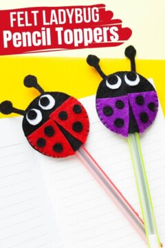 Ladybug Pencil Topper Sewing Craft