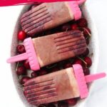Healthy Cherry Fudgsicles with Greek Yogurt (with Video)
