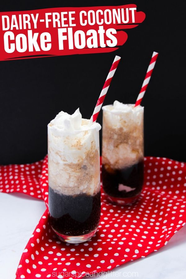 A tropical twist on a summer classic, these Dairy-free Coconut Coke Floats are refreshing, smooth and decadent