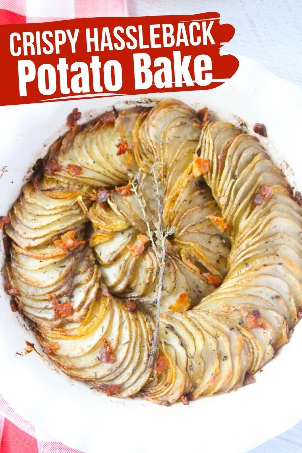 This crispy and tender Hasselback Potato Casserole has all of the delicious flavor and textures of a classic Hasselback Potato, without all of the fuss! Perfect for busy weeknights or as a Thanksgiving side dish