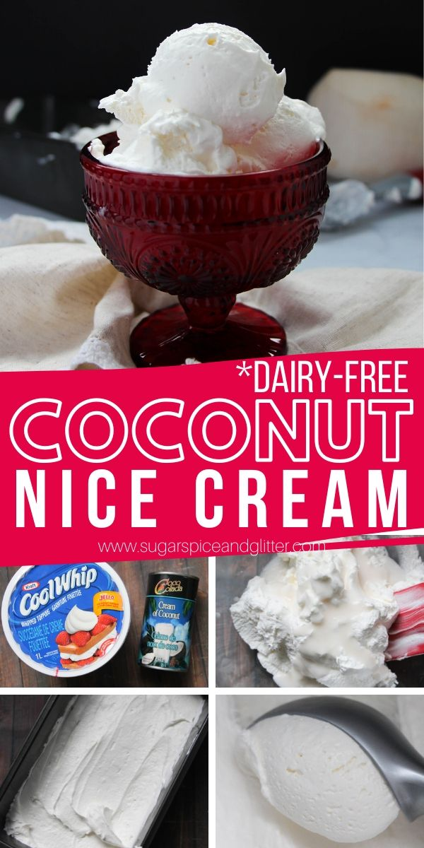How to make coconut nice cream - just two ingredients and two minutes of effort to make the best coconut soft serve ice cream - the perfect dairy-free dessert for summer!