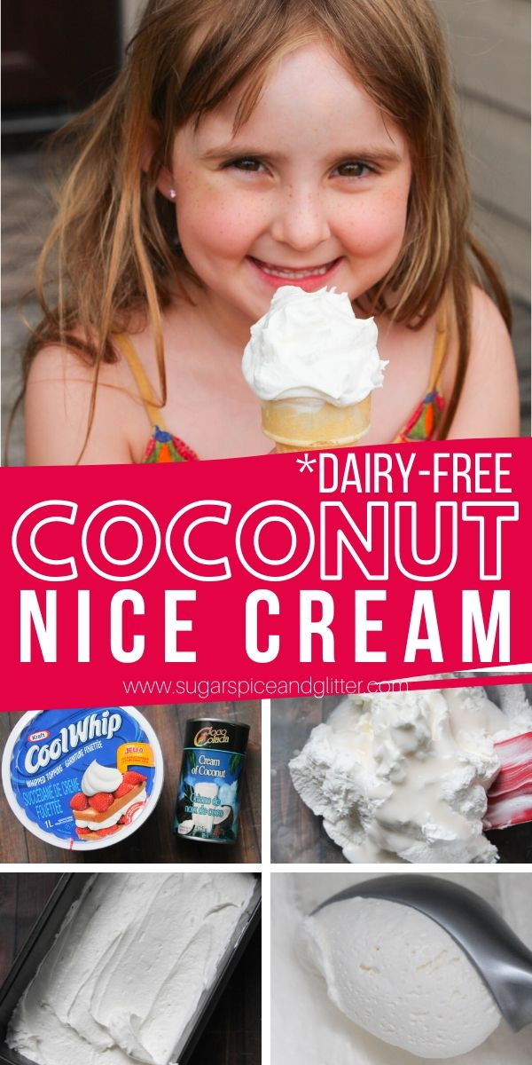 This creamy 2-ingredient coconut ice cream is vegan and dairy-free. A homemade soft serve ice cream with a refreshing coconut flavor that is super easy for the kids to help make!