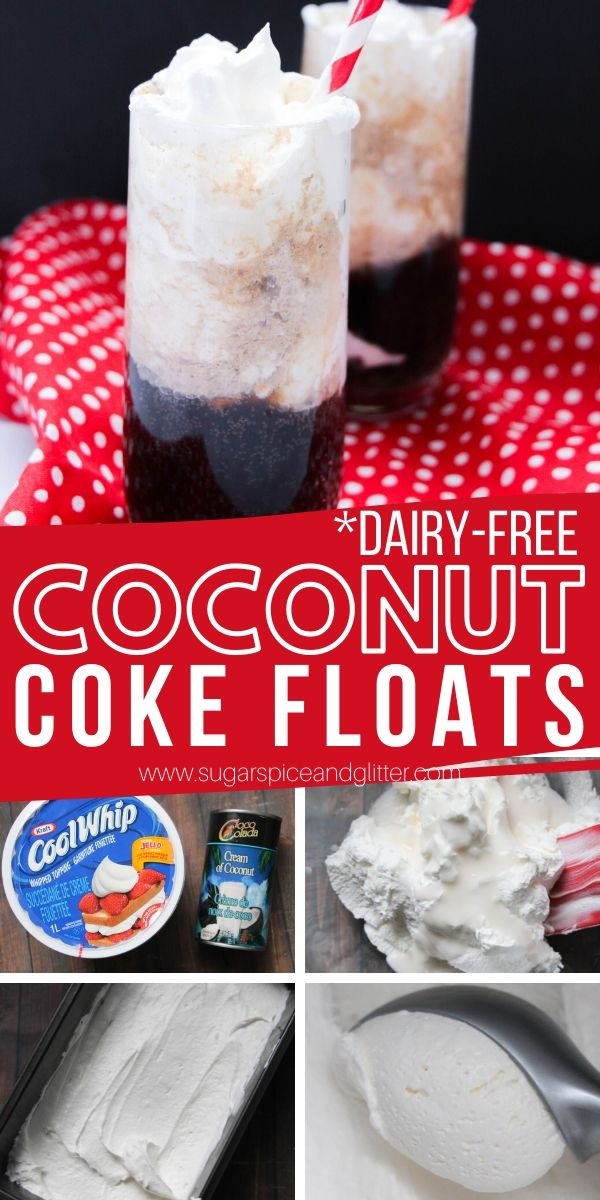 How to make Coconut Coke Floats, a refreshing summer drink perfect for your next BBQ or tailgating. Vegan and dairy-free, too