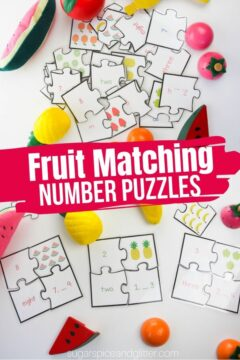 Fruit Themed Number Puzzles (Printable)