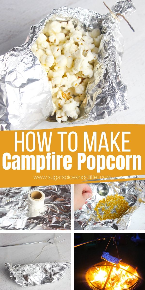 You don't need a microwave to make popcorn! Just a few camping essentials and a bonfire! This simple step-by-step tutorial shows you how to make campfire popcorn - the perfect camping snack