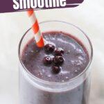 Blueberry Chia Seed Smoothie
