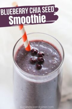 Blueberry Chia Seed Smoothie