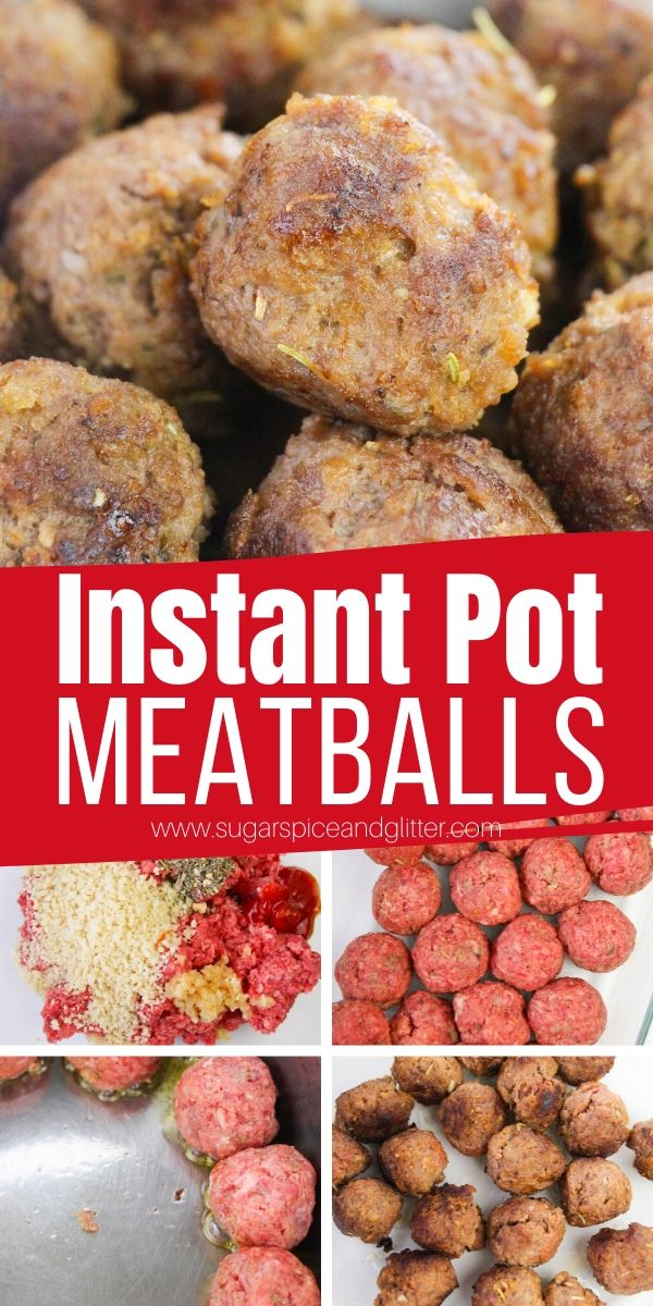 How to make meatballs in the Instant Pot. This Instant Pot Italian Meatballs recipe is super quick and easy and results in the juiciest, most flavorful meatballs - way better than anything you can find frozen!