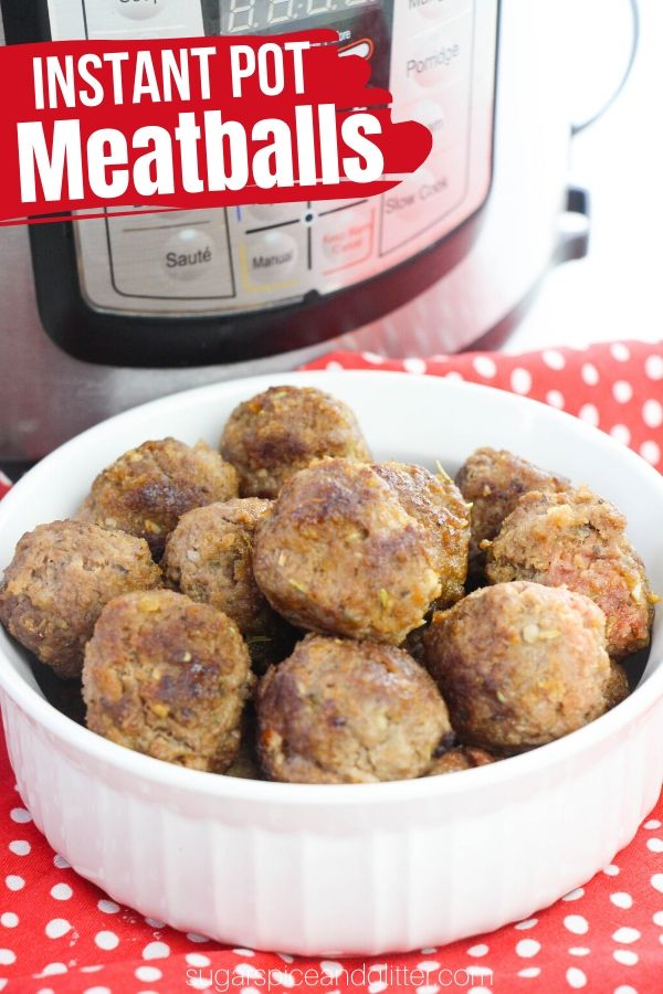 Tender, flavorful meatballs made in the Instant Pot! These super quick and easy Instant Pot Meatballs are made from scratch and can be customized with your personal favorite seasonings