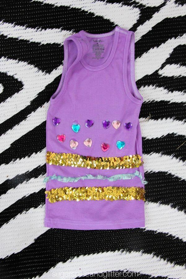 Kid-made Jasmine Tank Party Craft