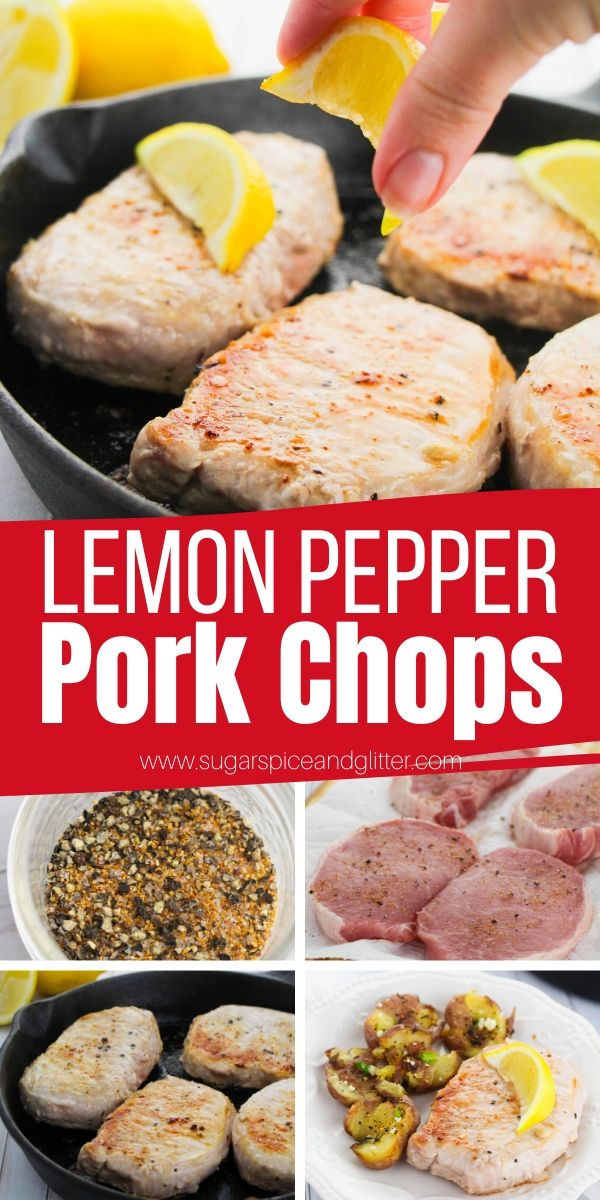 Mouth-watering Lemon Pepper Pork Chops are a 15-minute supper recipe the whole family will love - and you'll love that it's only 4-ingredients and super easy to make!