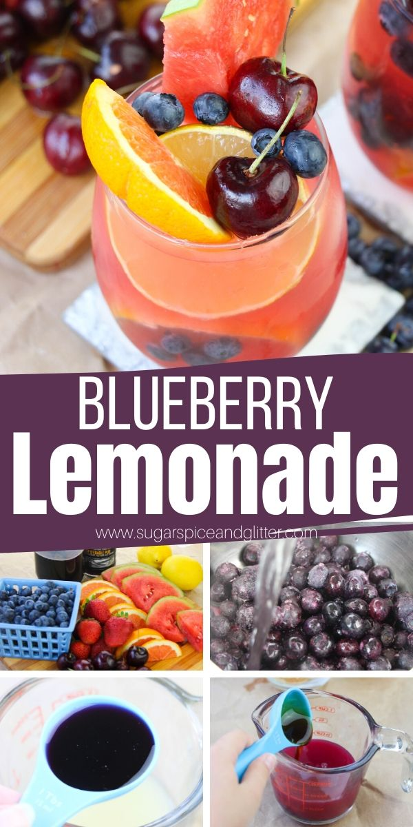 How to make blueberry lemonade - a natural fruit lemonade with no refined sugar and pure blueberry-lemon flavor. Tart, crisp and utterly refreshing - it's the perfect drink for summer