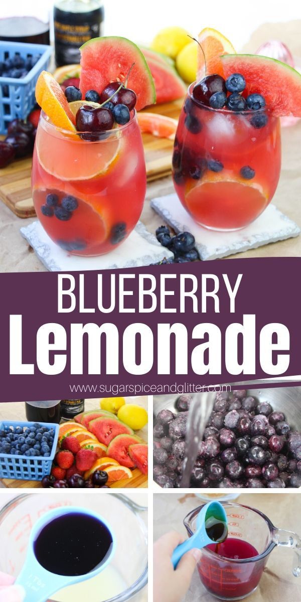 This amazing and gorgeous Blueberry Lemonade is a fun summer drink perfect for parties or just refreshing yourself on a hot summer day. Sugar-free with an amazing tart-sweet flavor