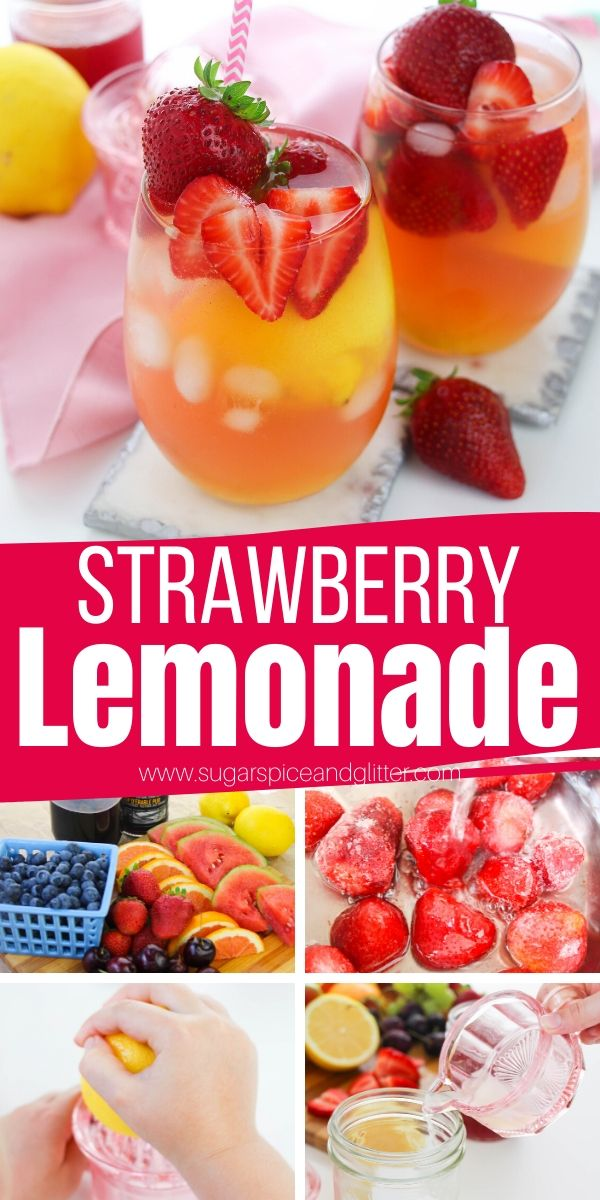 Refreshing Strawberry Lemonade - made with no sugar! This easy strawberry lemonade recipe is simple enough for the kids to help make and special enough for summer parties