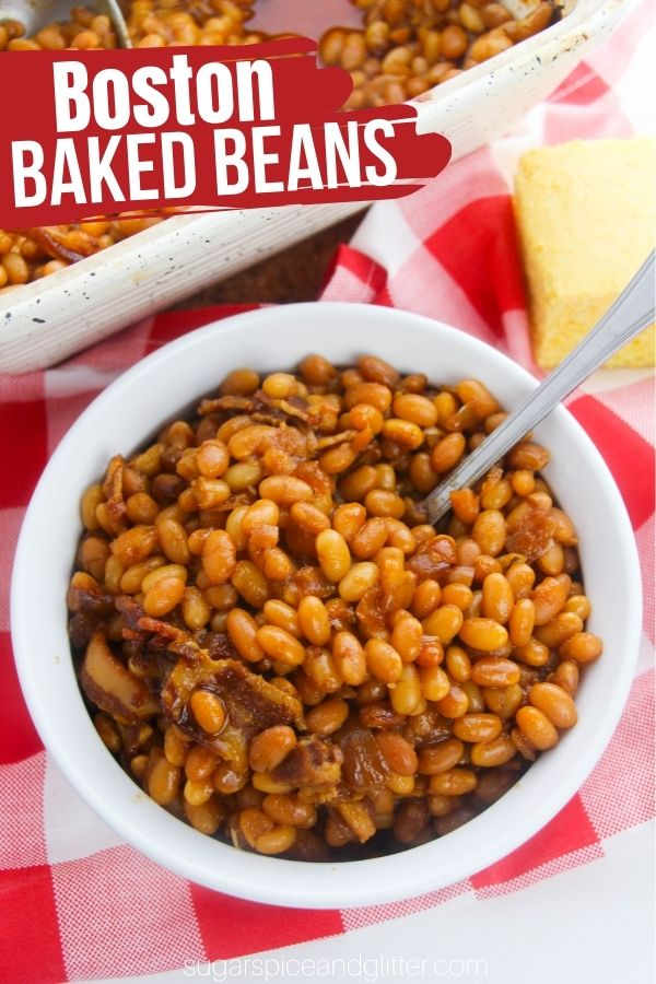 A tender and authentic Boston Baked Beans recipe with minimal ingredients and practically no prep work! This delicious side dish is perfect for brunches, BBQs, or comfort food suppers.