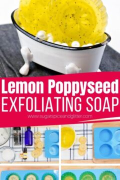 DIY Lemon Exfoliating Soap Bars (with Video)