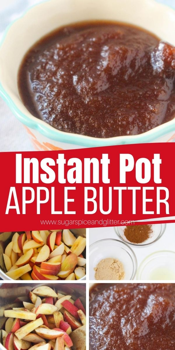 How to make Apple Butter in the Instant Pot, a quick and easy method that allows you full control over your flavor. Skip the expensive store-bought apple butter and make this decadent brunch topping yourself. Also makes a great fall gift