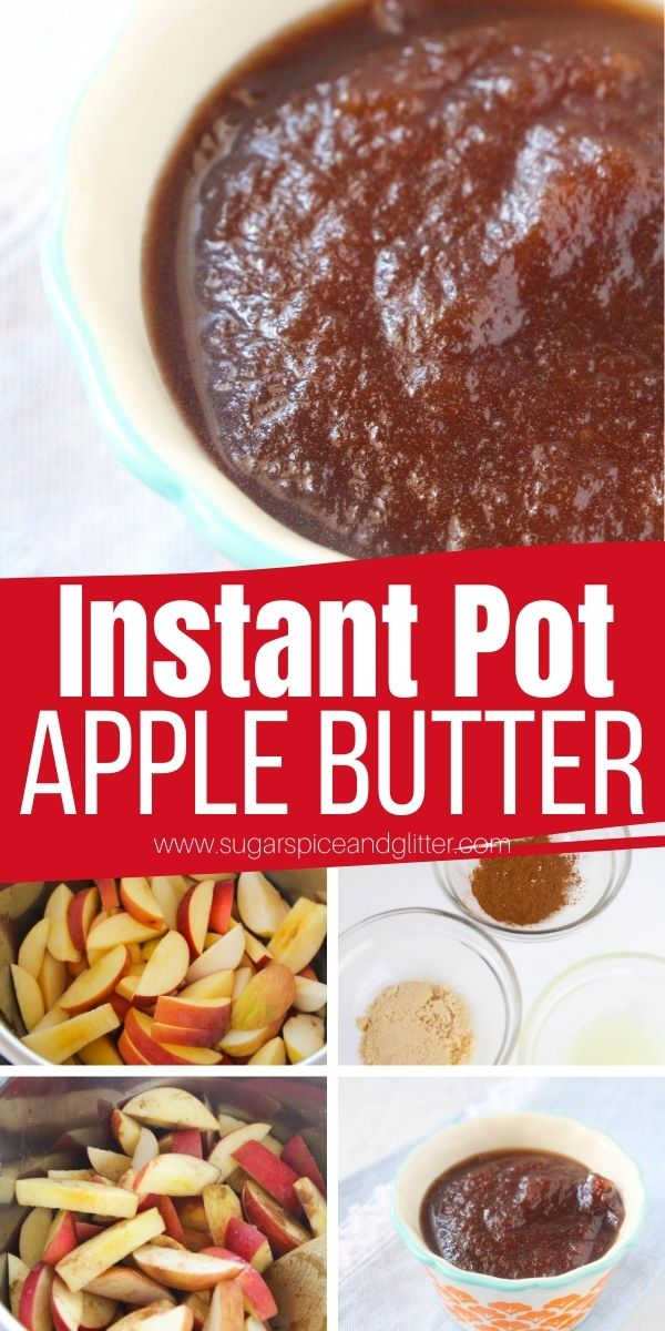 A thick, sweet and scrumptious apple butter made completely in the Instant Pot. Elevate your fall baking with this delicious apple butter - can be used as an ingredient or topping in your favorite fall baked goods