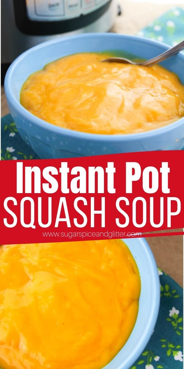 A simple 5-ingredient Instant Pot Butternut Squash Soup recipe that comes together in less than 10 minutes, this simple Instant Pot soup can be customized with different spices or toppings, too.