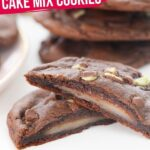 Peppermint-Stuffed Cake Mix Cookies