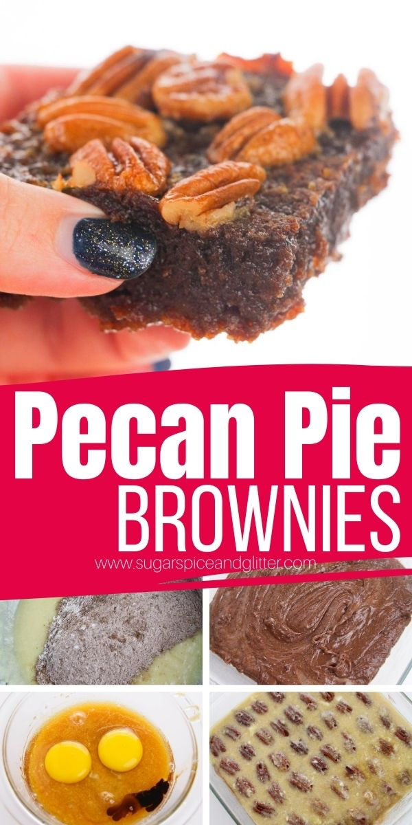 The most decadent fall dessert you could think of - Pecan Pie Brownies combine the the caramelized ooey gooey topping of a pecan pie with the rich, chocolatey flavor of decadent brownies