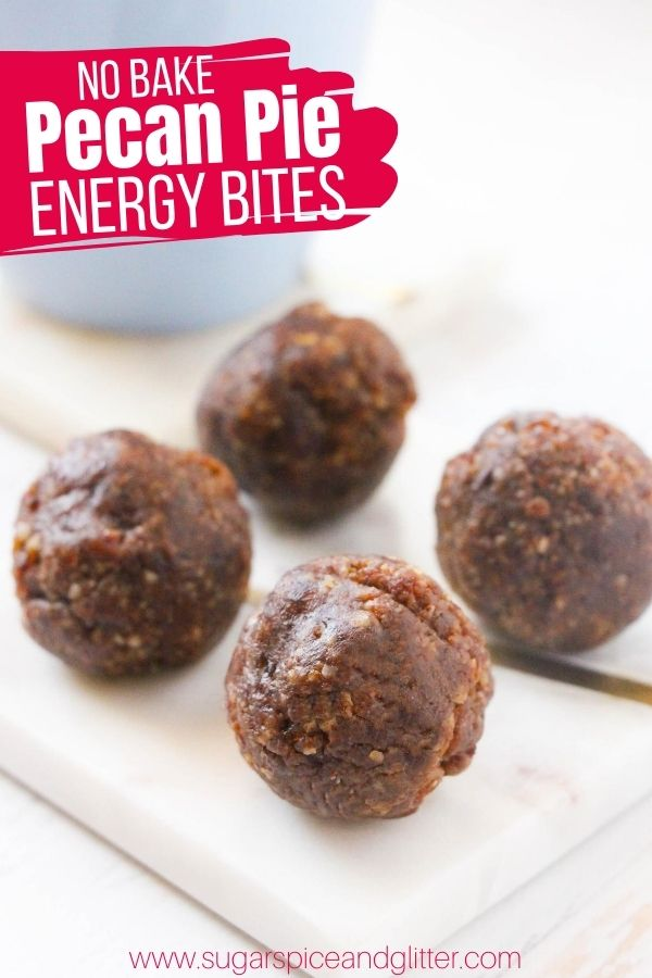 A protein-rich energy ball that tastes just like pecan pie! This healthy no bake dessert is perfect for satisfying your snack cravings while helping you stick to your healthy eating goals
