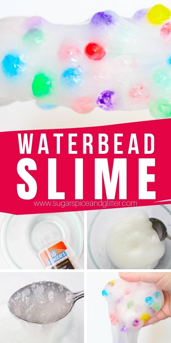 "How to make waterbread slime, a fun textured, 3-ingredient slime recipe that kids will love. With the rainbow slime version, you can read ""Put Me in the Zoo"" before playing with this slime, or customize it with leopard or dalmation colors - the possibilities are endless!"