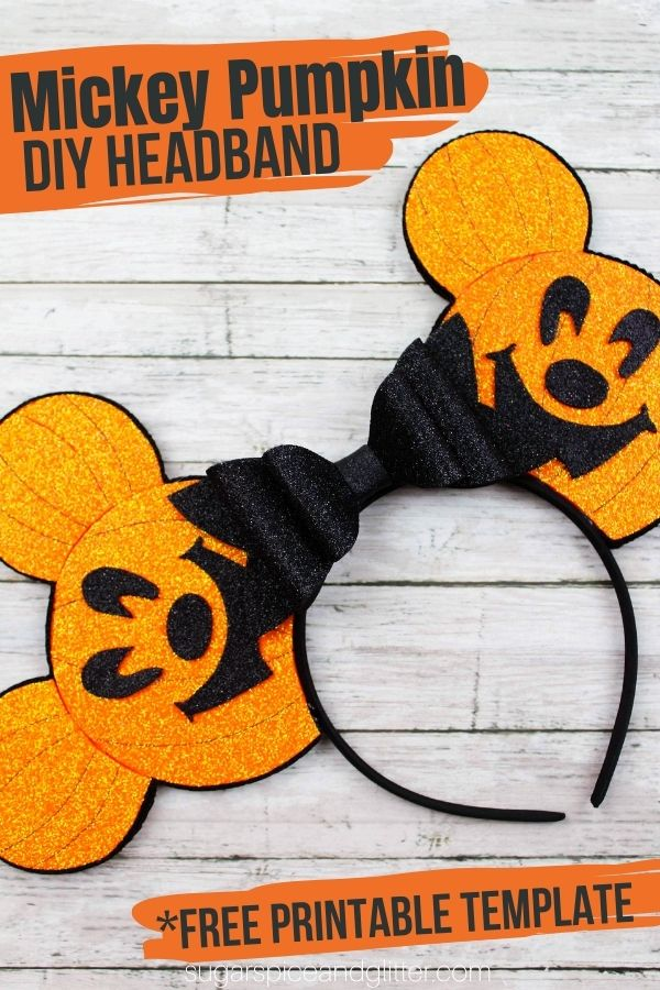 Make your own Disney Halloween Ears for the whole family - save money and look super cute at the Disney Parks, or while trick or treating this year! This craft is super simple thanks to a free printable template