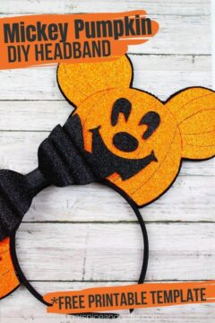 DIY Mickey Pumpkin Headband