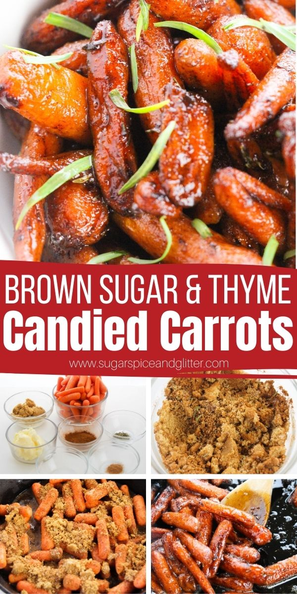 How to make candied carrots in the oven or on the stove - these sticky sweet carrots are perfect for getting picky eaters to eat their veggies. A classic vegetable side dish for Easter or Thanksgiving that also pairs great any time you make pork loin or baked ham