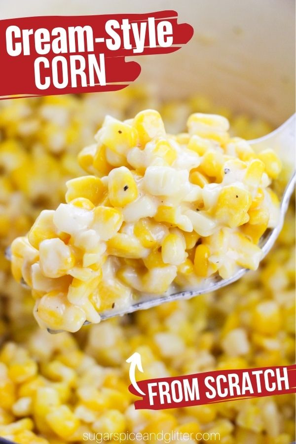 Juicy, buttery and plump corn kernels cooked in a creamy, cheesy sauce and seasoned with just the right amount of salt and pepper, this cream style corn is better than anything you can find in a can. And, its ready in less than 10 minutes!