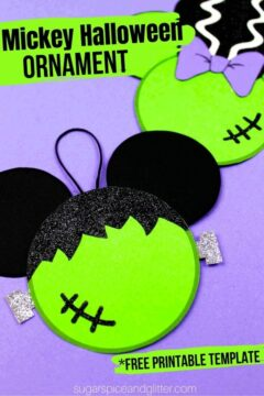 Frankenstein Mickey Halloween Ornaments
