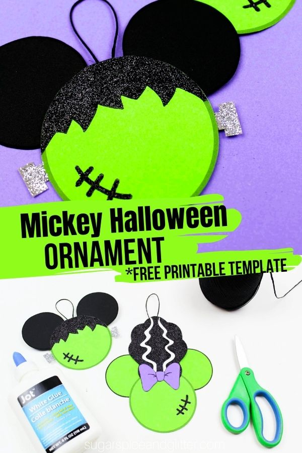 Kids will love getting to make these easy Mickey Ornaments for Halloween. They're fun, not spooky!