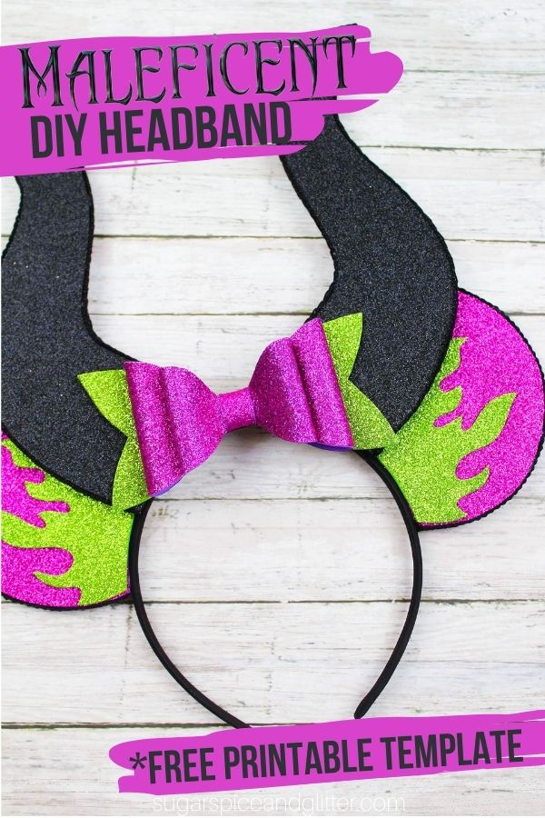 DIY Maleficent Mickey Ears Headband