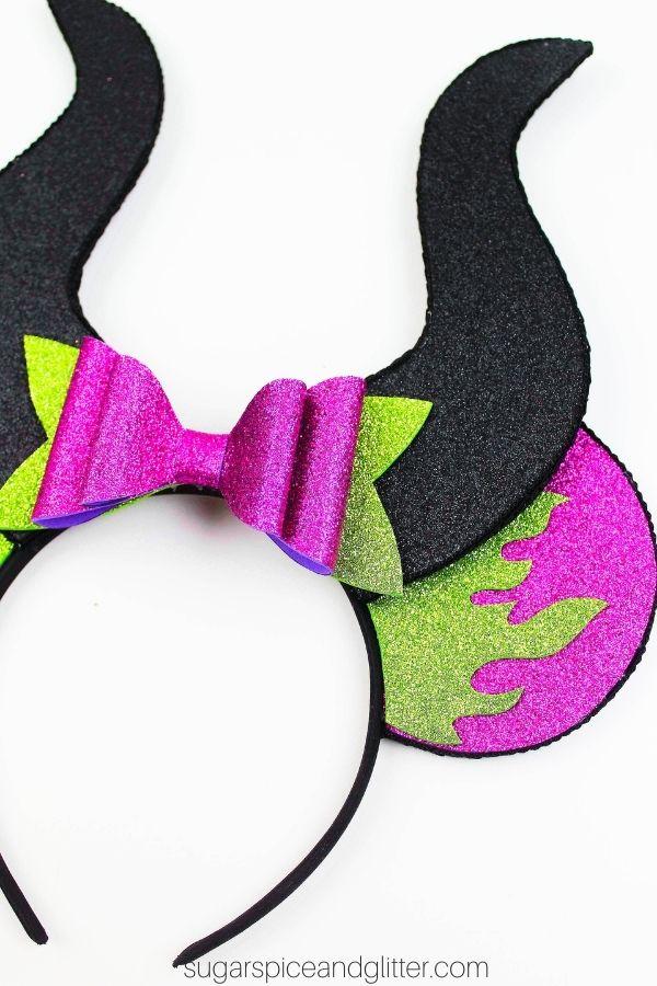 Maleficent Purple Cauldron  Mickey Mouse Ears Headband