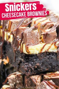 Snickers Cheesecake Brownies