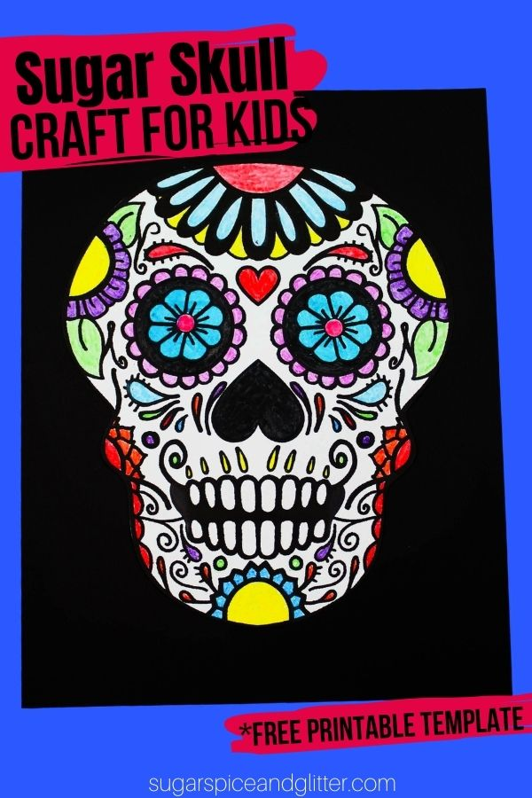Learn about Sugar Skulls and their significance while making this gorgeous sugar skull craft for kids