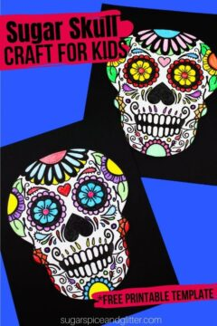 Printable Sugar Skull Coloring Page